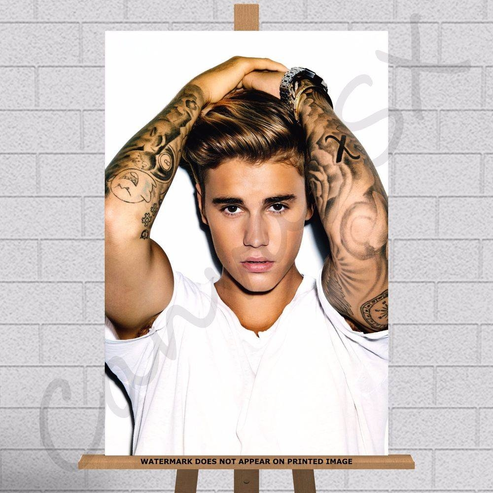 Justin Bieber Canvas | Ebay In Most Popular Justin Bieber Wall Art (View 18 of 20)