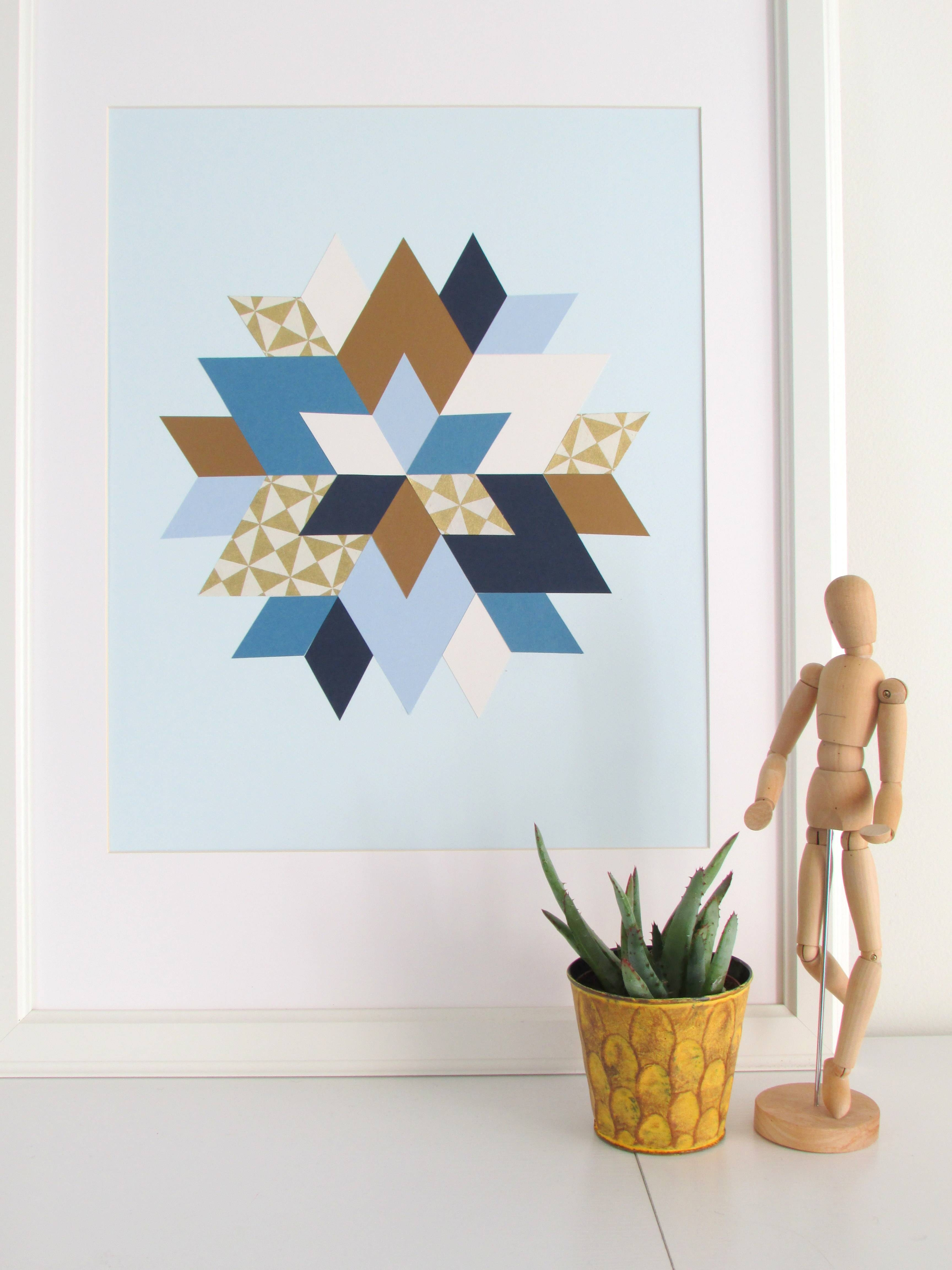 Kaleidoscope Inspired Paper Art – Francois Et Moi With Regard To 2018 Kaleidoscope Wall Art (View 14 of 20)