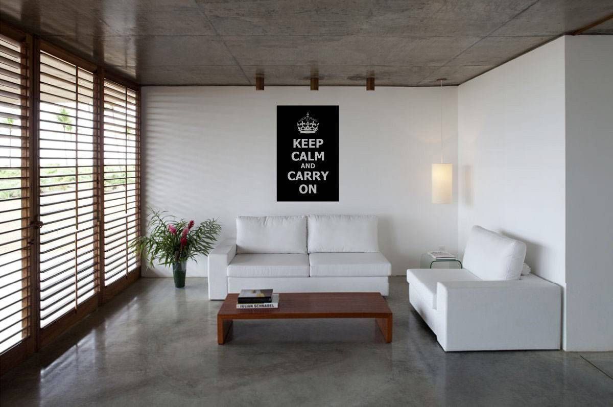 Keep Calm And Carry On Decor For Your Home | Idesignarch Regarding 2017 Keep Calm And Carry On Wall Art (View 7 of 25)