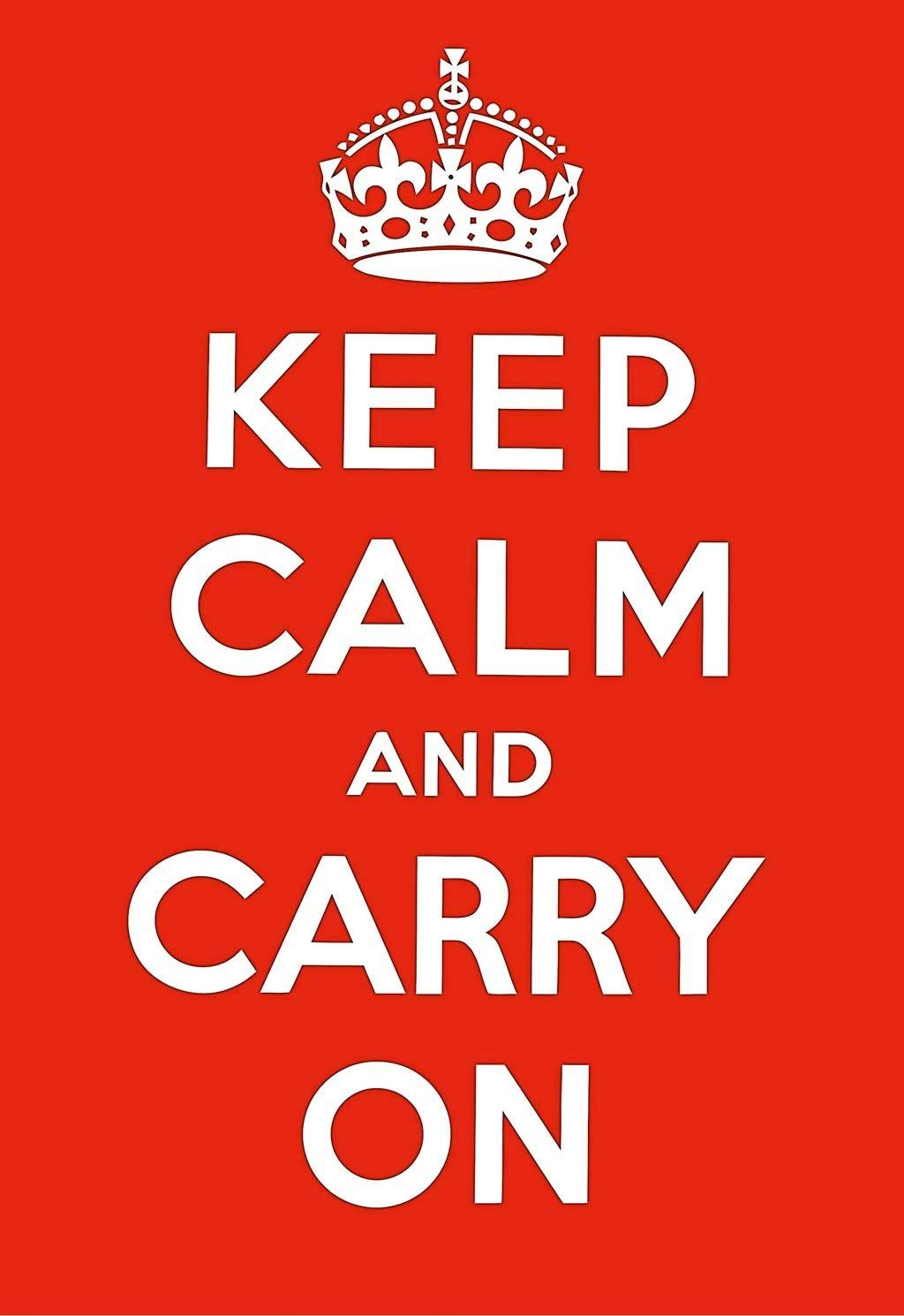Keep Calm And Carry On Poster Prints Wall Decoration Art Pictures Pertaining To 2017 Keep Calm And Carry On Wall Art (View 9 of 25)