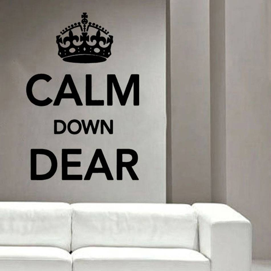 Keep Calm And Carry On Vinyl Wall Art » _Shop » Home With Most Popular Keep Calm And Carry On Wall Art (Gallery 18 of 25)