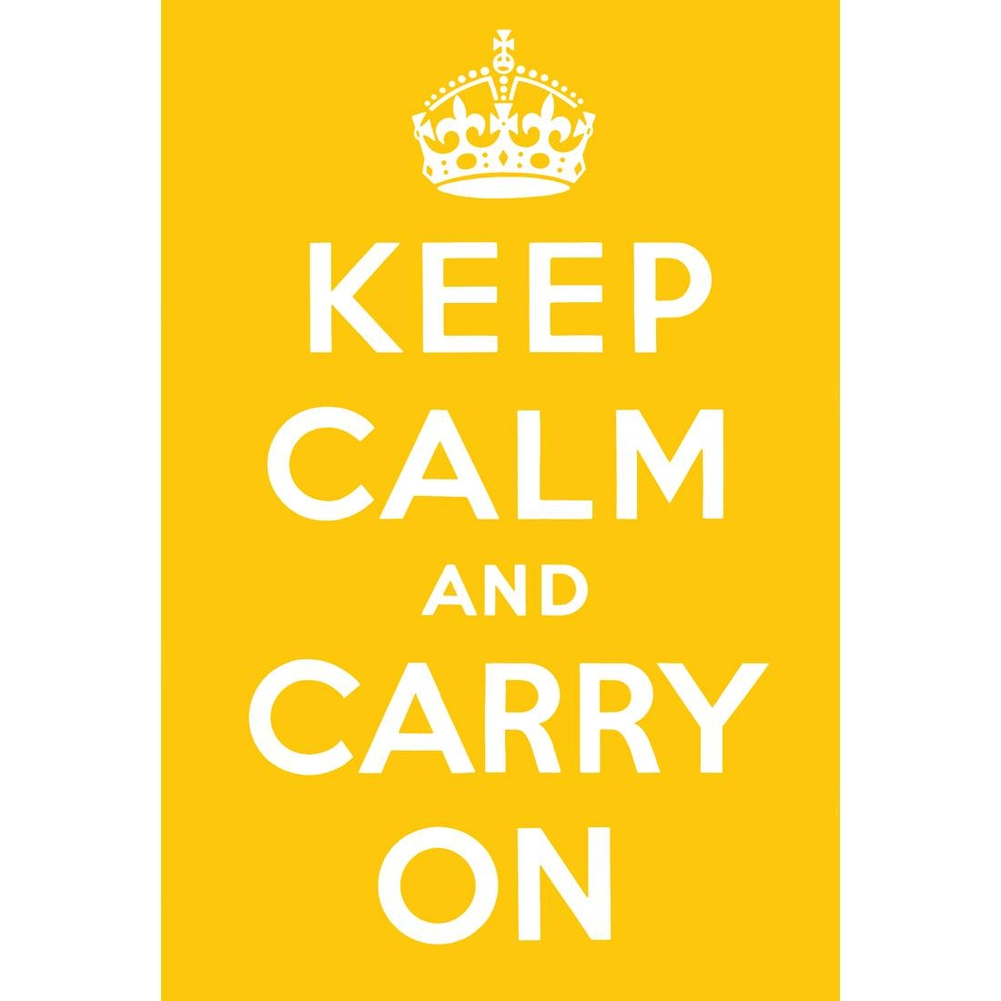 Keep Calm And Carry On, Yellow – Canvas Print – Wall Art – Australia With Current Keep Calm And Carry On Wall Art (View 18 of 25)