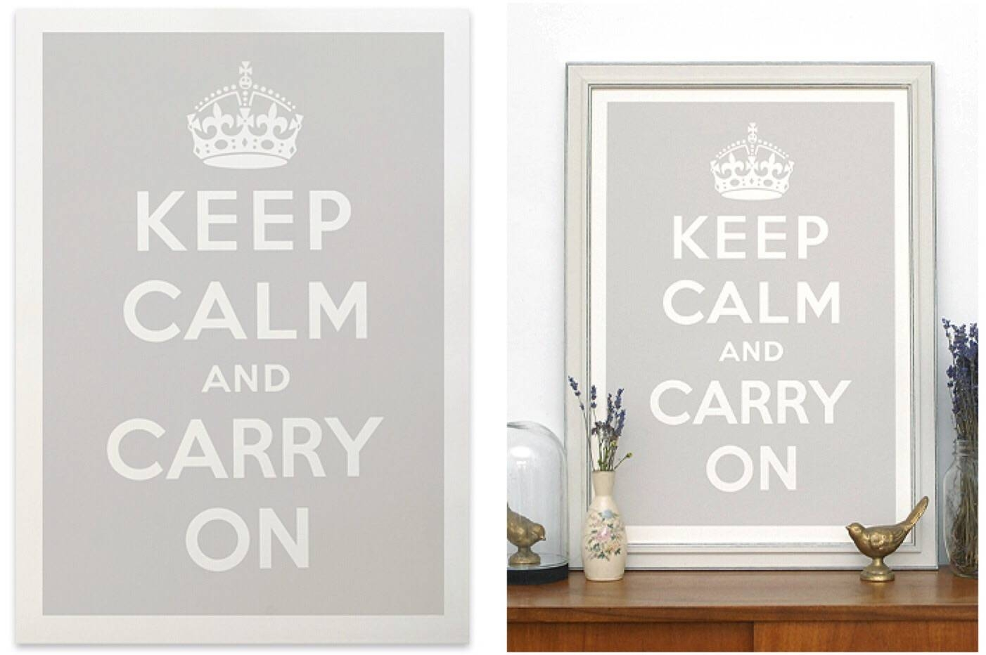 Keep Calm Wall Art Print Inside Newest Keep Calm And Carry On Wall Art (View 2 of 25)
