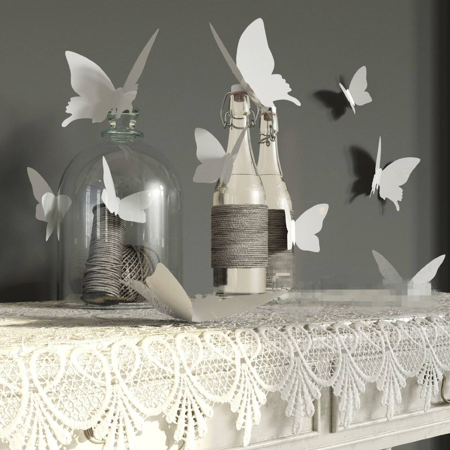 Keep Your Home Closer To Nature With Butterfly Wall Decor Wall Pertaining To Most Current White 3D Butterfly Wall Art (Gallery 9 of 20)