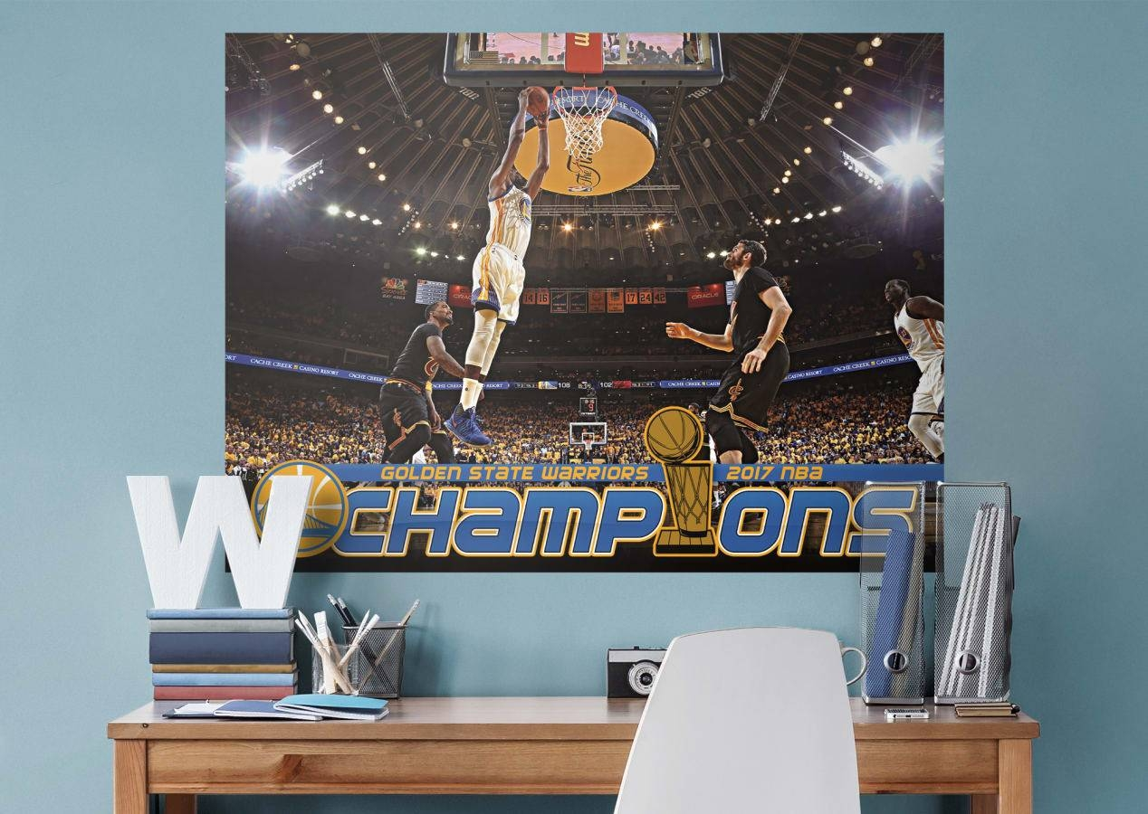 Kevin Durant 2017 Nba Finals Dunk Mural Wall Decal | Shop Fathead Within Newest Nba Wall Murals (Gallery 1 of 25)