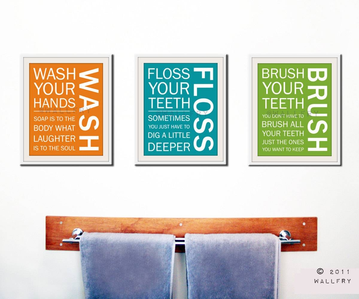 Kids Bath Wall Art. Bathroom Rules. Bathroom Prints Wash Brush in Latest Kids Bathroom Wall Art