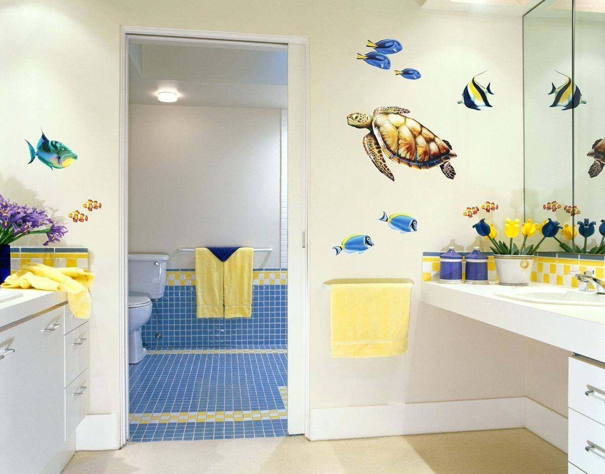 Kids Bathroom Wall Decals Bedroom Design Wonderful Wall Stickers throughout Most Up-to-Date Fish Decals For Bathroom