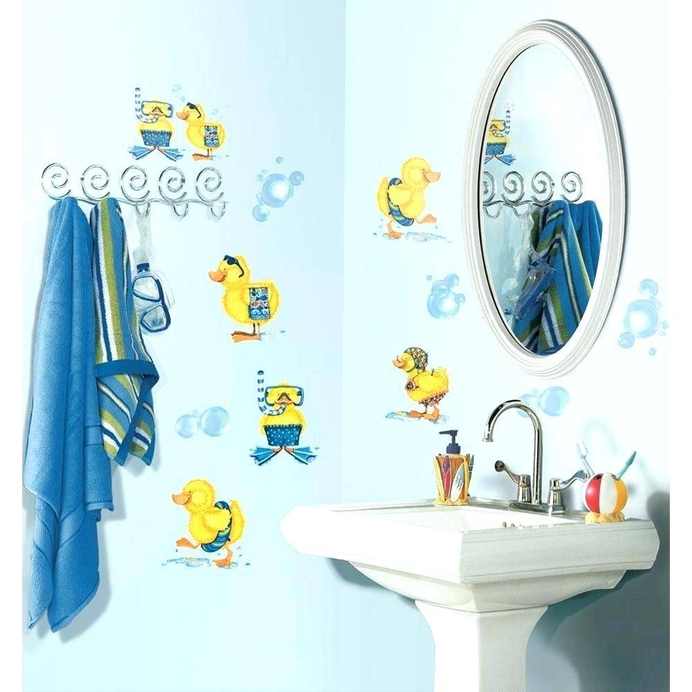 Kids Bathroom Wall Decals Fish Decals For Bathroom Fish Wall Decal Pertaining To Most Popular Fish Decals For Bathroom (Gallery 3 of 30)
