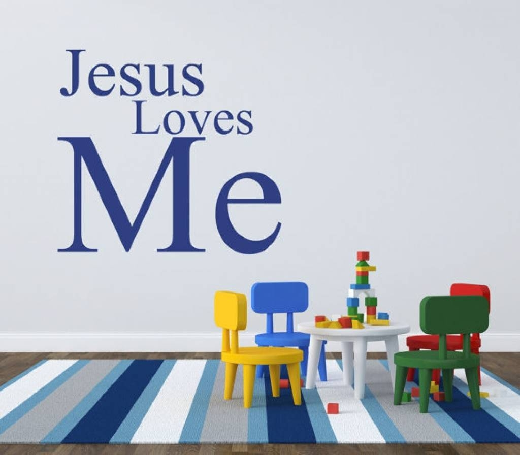 Kids Playroom Wall Decals Jesus Loves Me Elainedavidsdesign Sunday With Most Recently Released Preschool Classroom Wall Decals (Gallery 17 of 30)