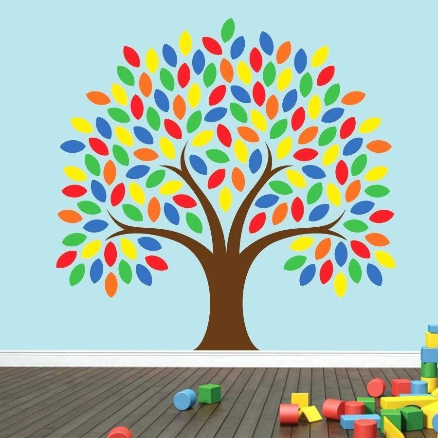 Kids Playroom Wall Decals Tall Giraffes For Nursery Playroom Kids throughout Current Playroom Wall Art
