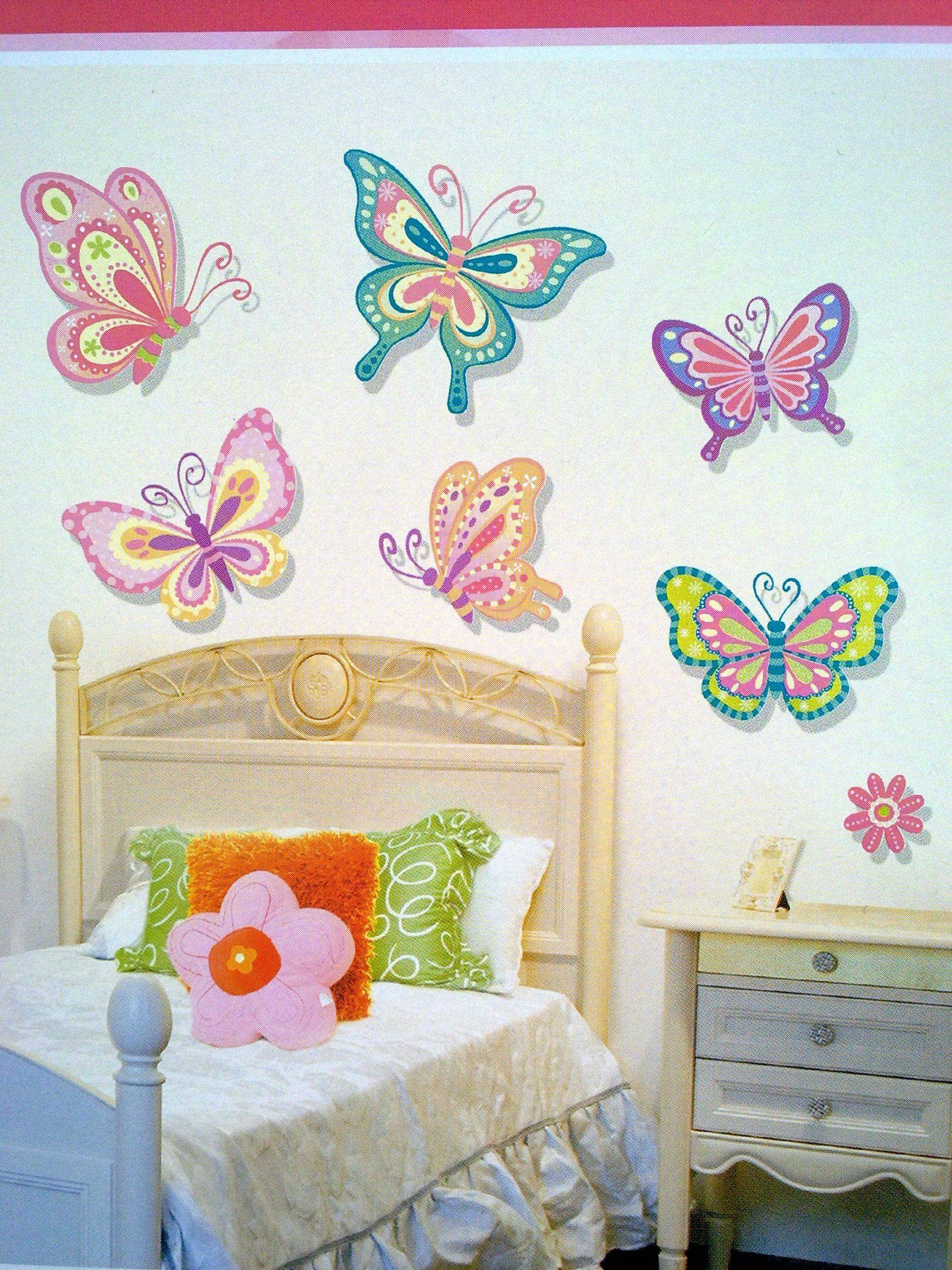 Kids Room. Interior Wall Decoration With Kid Wall Decals For With Regard To Latest 3D Removable Butterfly Wall Art Stickers (Gallery 14 of 20)