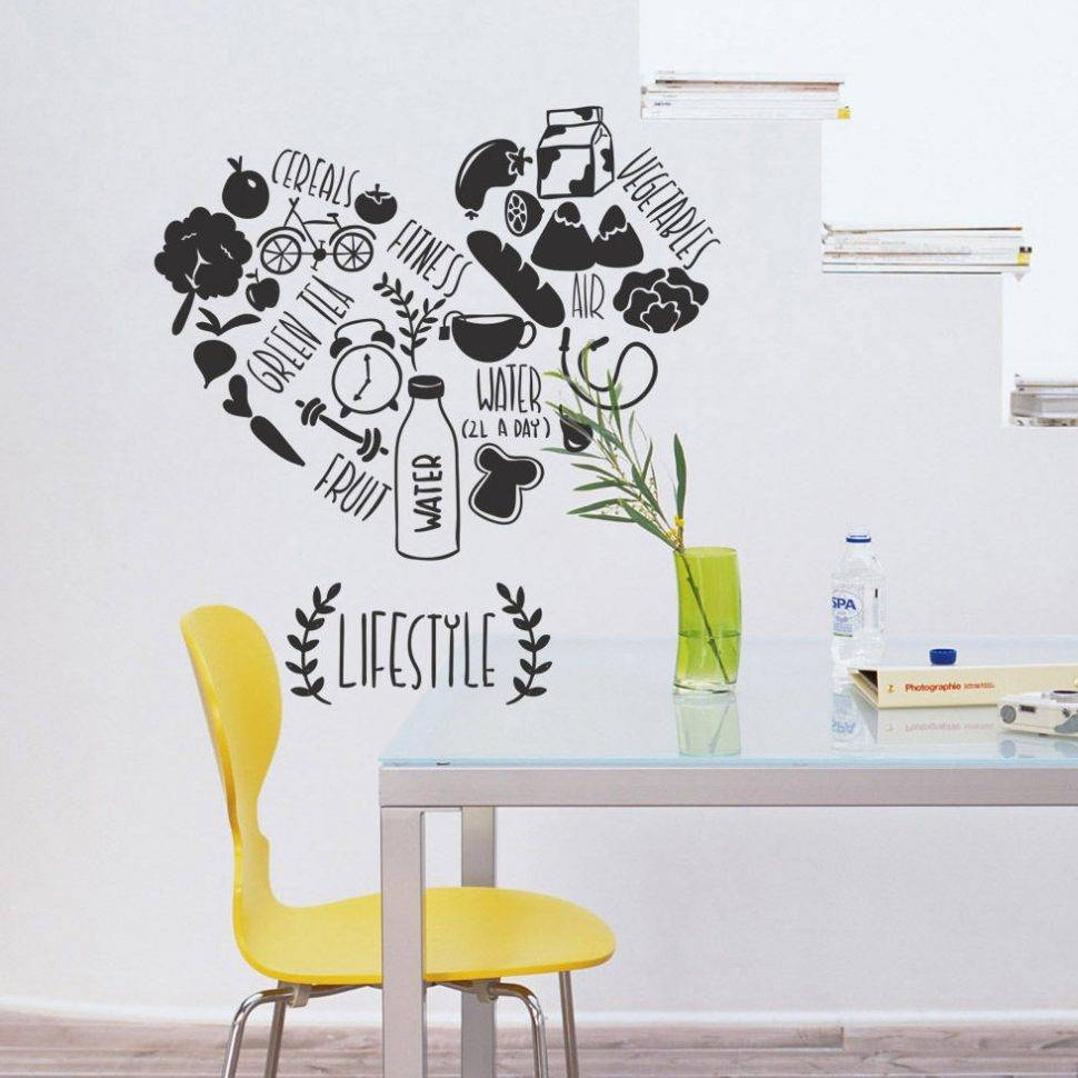 Kitchen Decorating : Gold Wall Stickers 3D Wall Art Stickers Wall Within Latest Decorative 3D Wall Art Stickers (Gallery 6 of 20)