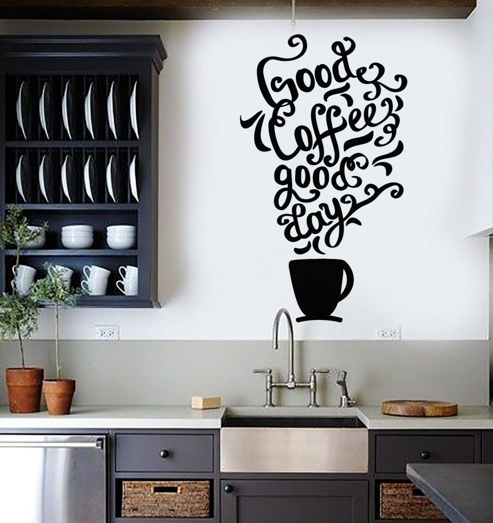 Kitchen Decorating : Kitchen Words Wall Art Wall Painting Stickers regarding Most Recently Released 3D Wall Art Words