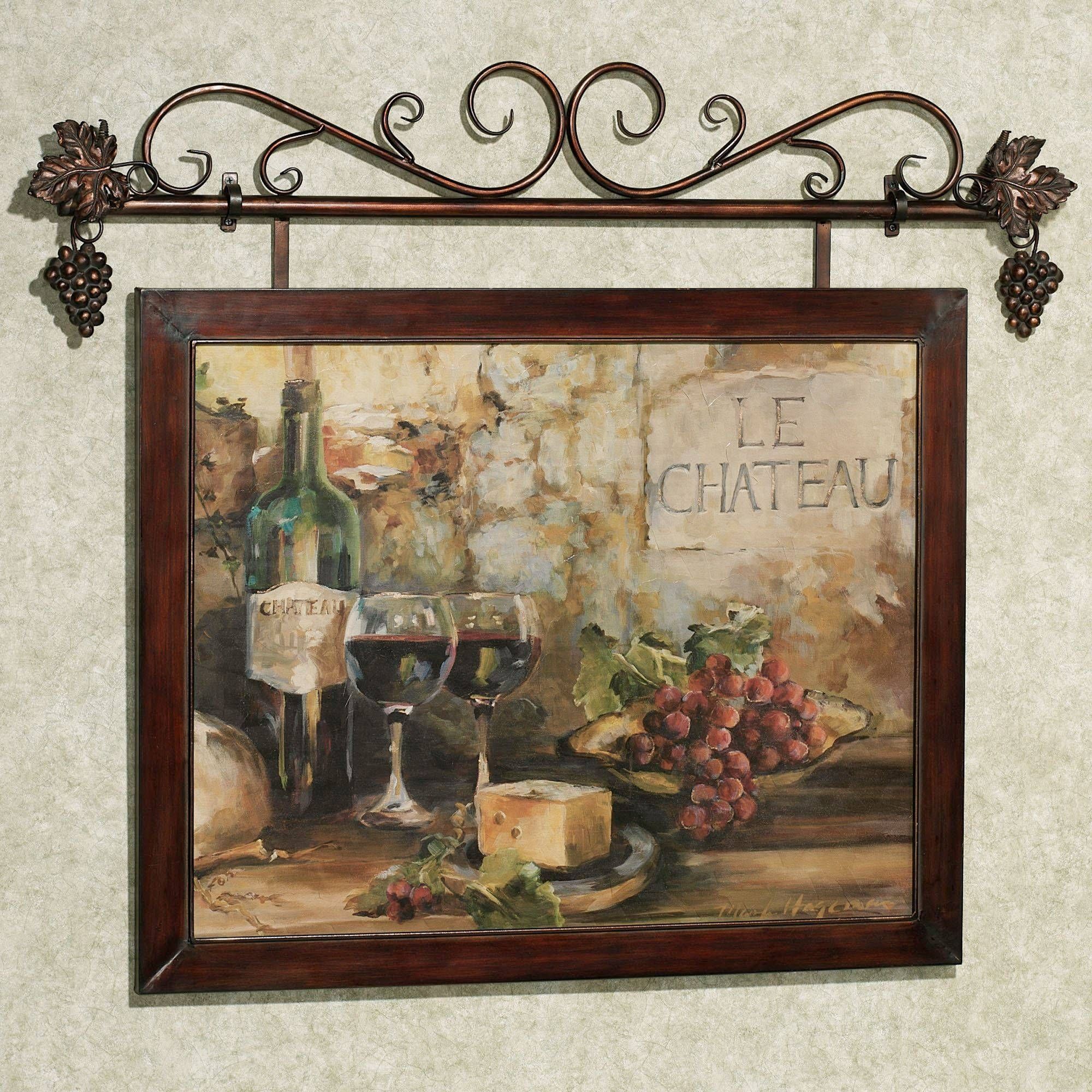 Kitchen : Fancy Wall Decor With Yellow Kitchen Wall Art Also within Best and Newest Wine Theme Wall Art