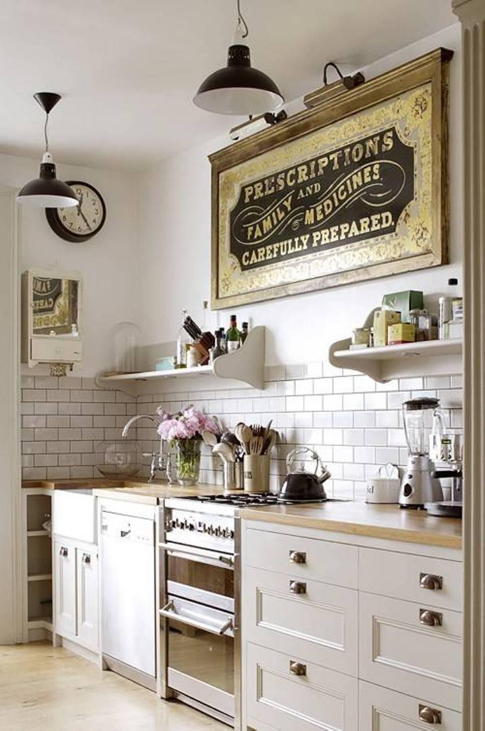 Kitchen : Kitchen Farmhouse Kitchen Decor Ideas With Brick Kitchen in Latest Farmhouse Wall Art