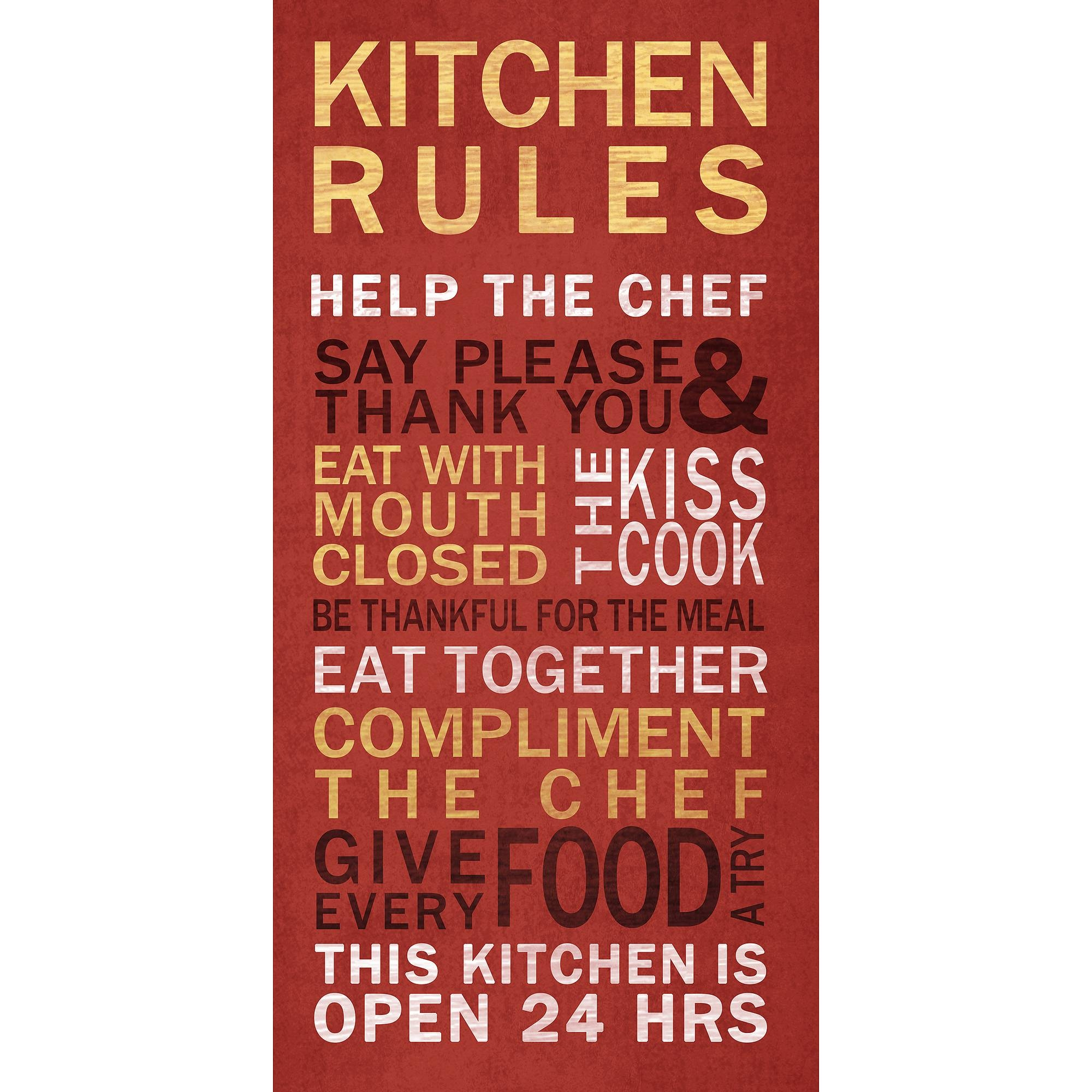 Kitchen Rules Wall Art – Walmart Throughout Recent Kitchen Wall Art (Gallery 22 of 25)