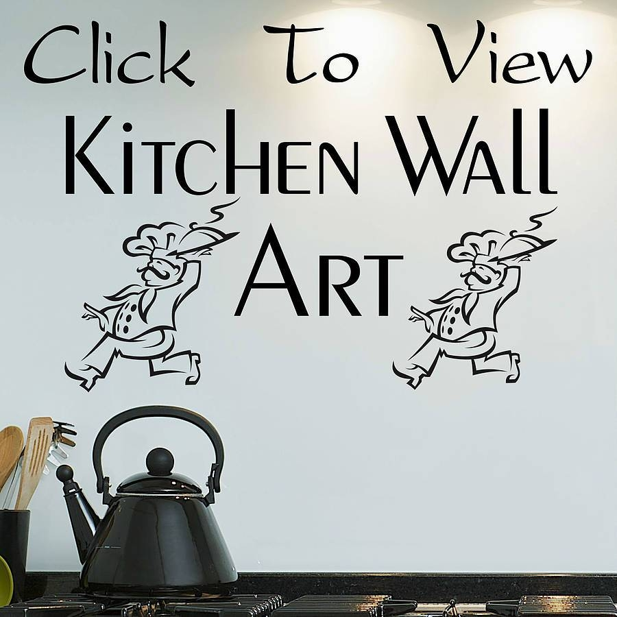Kitchen Wall Art Decals : The Important Of Kitchen Wall Decals For inside Best and Newest Kitchen Wall Art