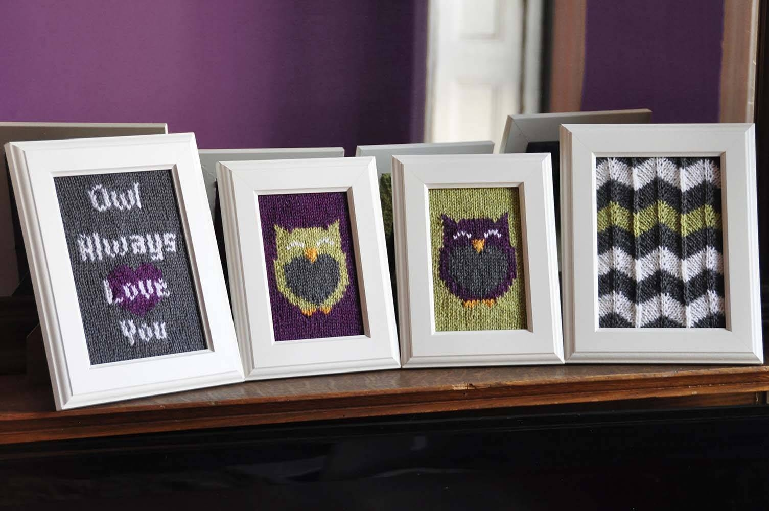 Knitted Wall Art – Knitting Is Awesome Intended For 2017 Owl Framed Wall Art (View 16 of 20)