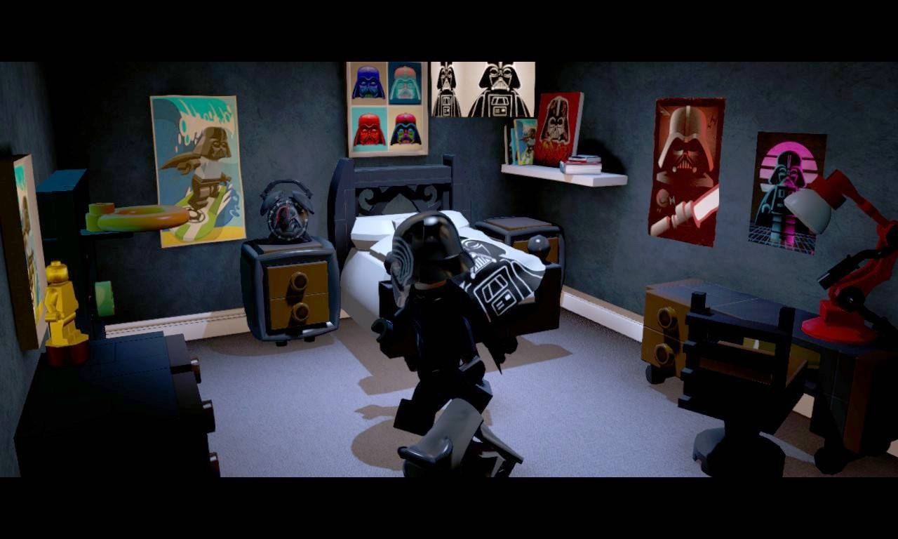 Kylo Ren's Room In Lego Star Wars: The Force Awakens. It Looks with Most Current Lego Star Wars Wall Art