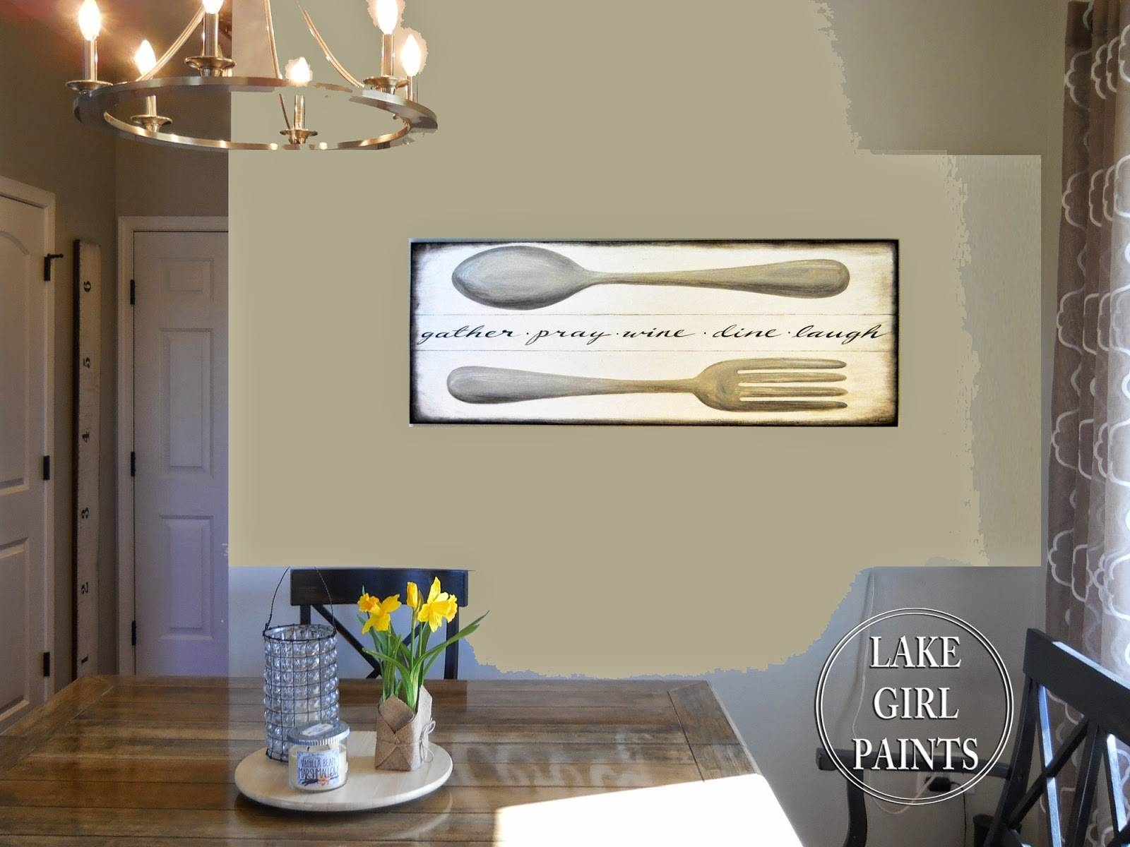 Lake Girl Paints: Making Dining Room Wall Art Throughout 2018 Large Horizontal Wall Art (View 9 of 20)