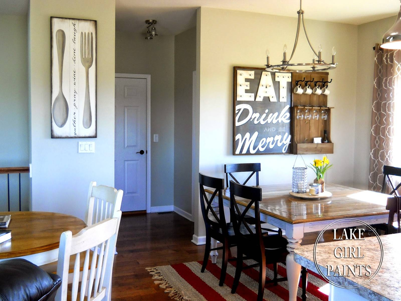 Lake Girl Paints: Making Dining Room Wall Art Throughout Most Recently Released Dining Wall Art (View 14 of 25)