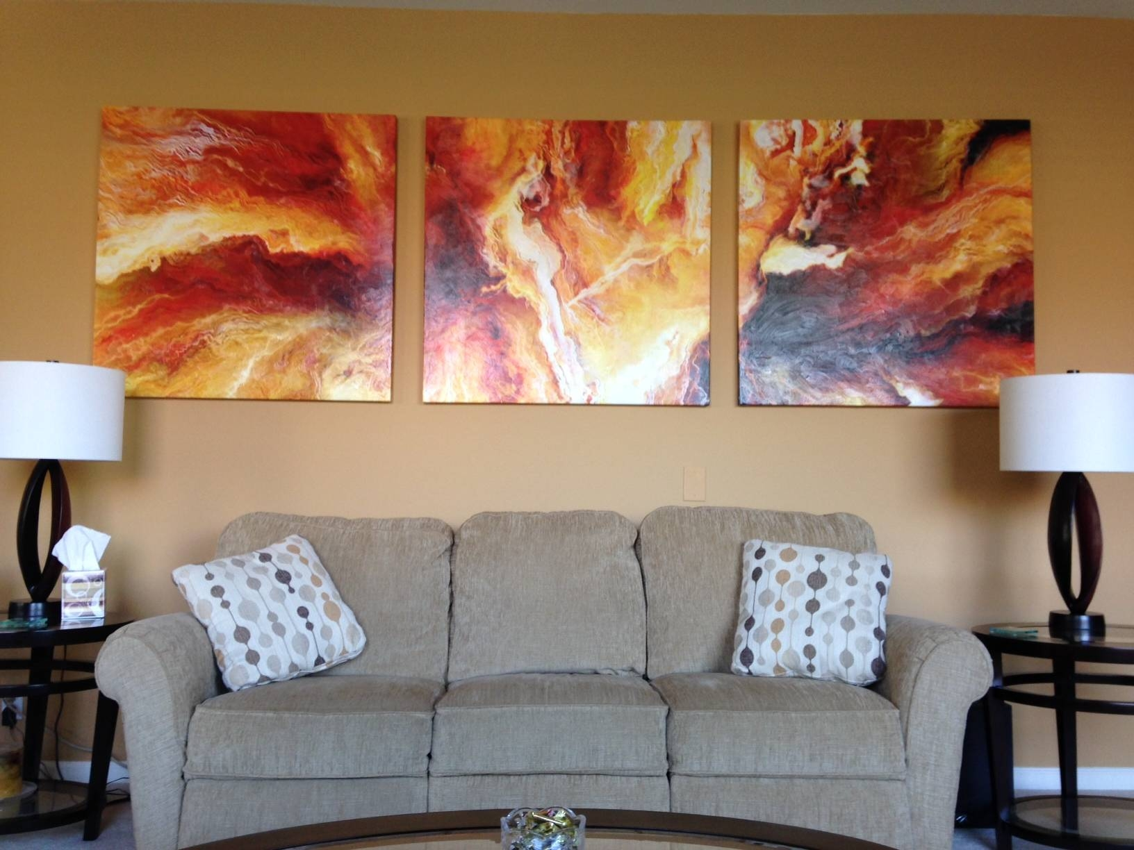 Large Abstract Art Archives – Cianelli Studios Art Blog Throughout Most Recent Large Triptych Wall Art (View 10 of 20)