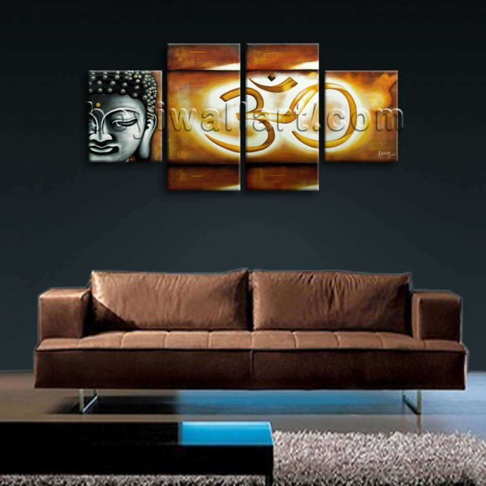 Large Abstract Feng Shui Painting Giclee Print Buddha Om Zen Art inside Best and Newest Large Buddha Wall Art