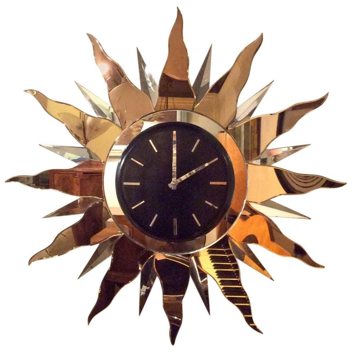 Large Art Deco Wall Clock, 1930s For Sale At Pamono Inside Most Recent Large Art Deco Wall Clocks (View 2 of 30)