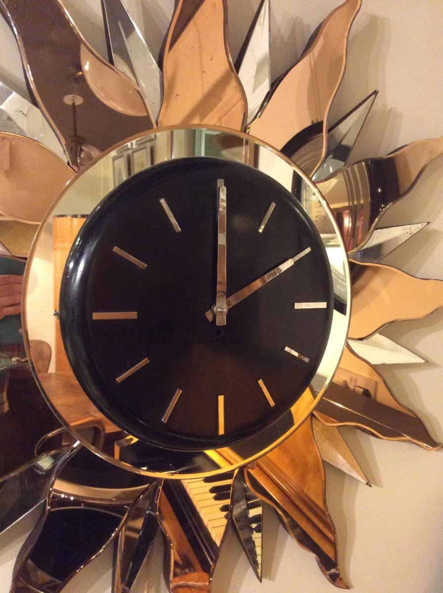 Large Art Deco Wall Clock, 1930S For Sale At Pamono Pertaining To Newest Large Art Deco Wall Clocks (View 8 of 30)