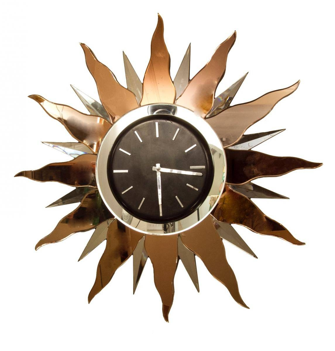 Large Art Deco Wall Clock, 1930S For Sale At Pamono Throughout 2017 Large Art Deco Wall Clocks (View 19 of 30)