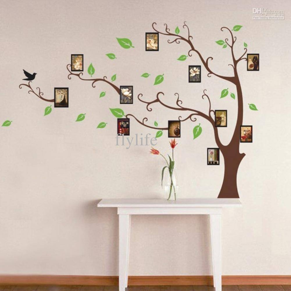 Large Art Photo Frames Tree Wall Decor Stickers Green Leaves On Within 2018 Tree Branch Wall Art (View 8 of 20)