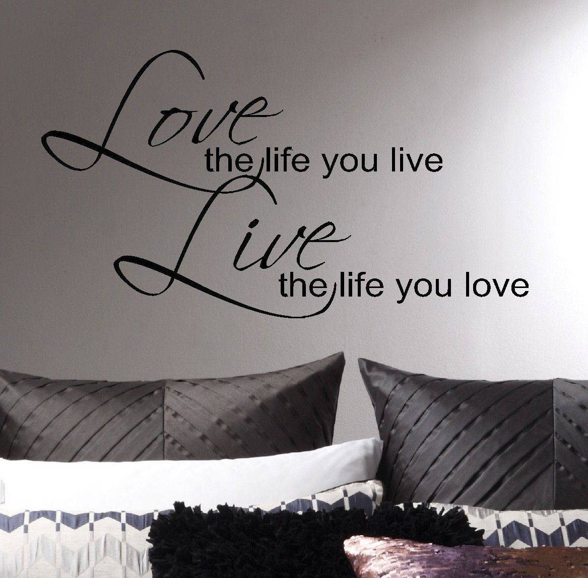 Large Bob Marley Quote Wall Art Sticker Love Life Live Matt Vinyl For Latest Bob Marley Wall Art (View 23 of 30)