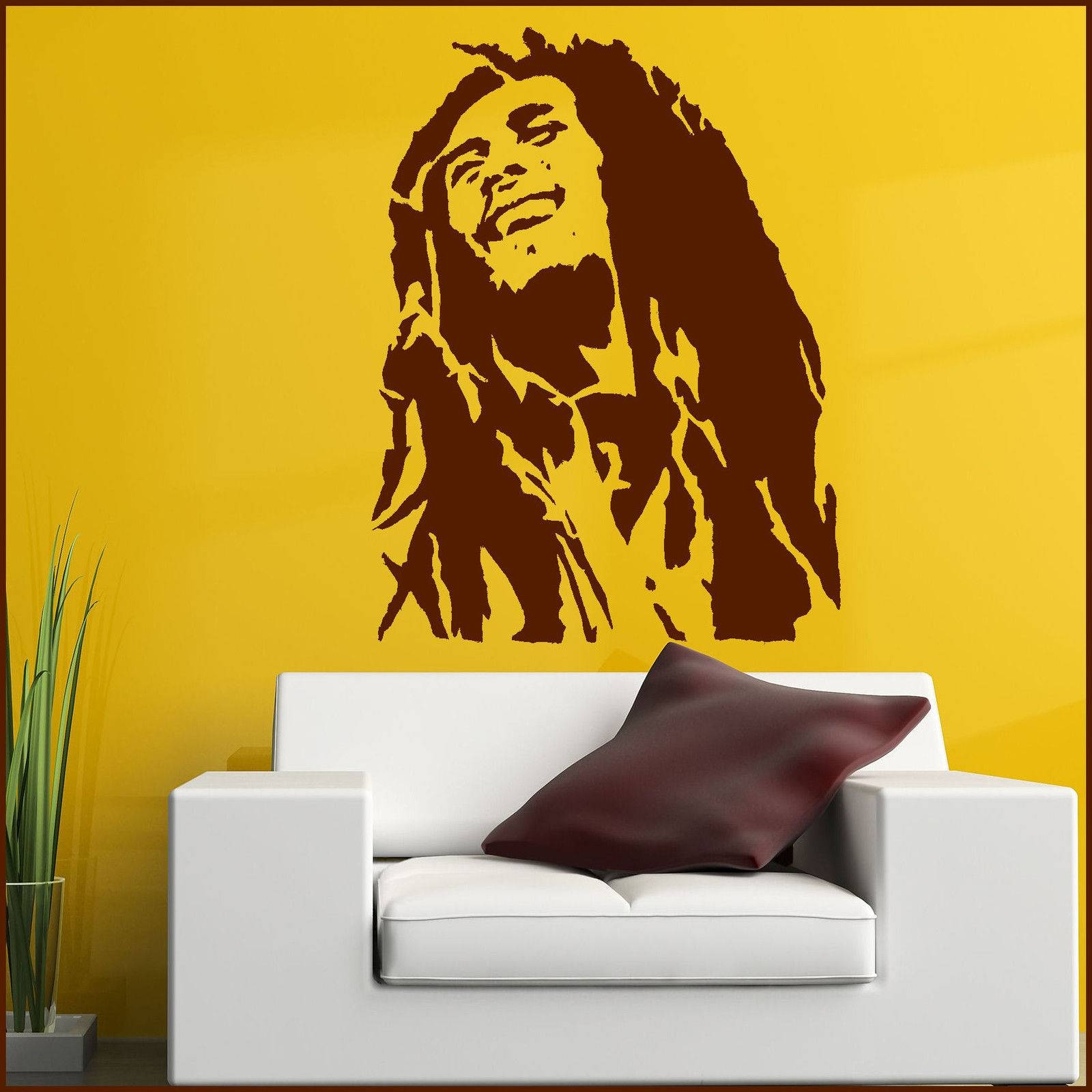 Large Bob Marley Wall Art Sticker In Matt Vinyl Decal Transfer Xl For 2018 Bob Marley Wall Art (View 4 of 30)
