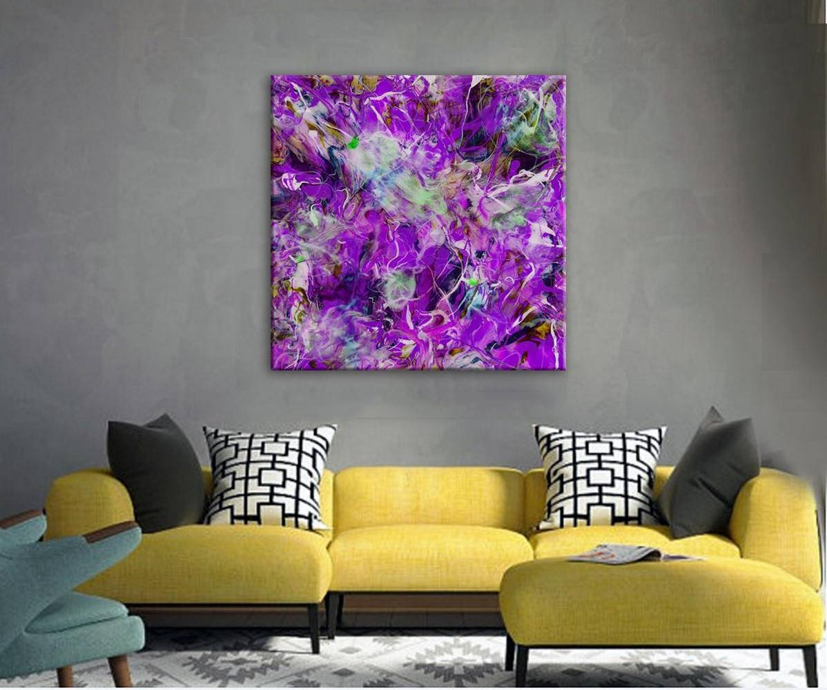 Large Canvas Art Print Epoxy Resin Art Print Extra Large Intended For Newest Extra Large Wall Art Prints (View 8 of 20)