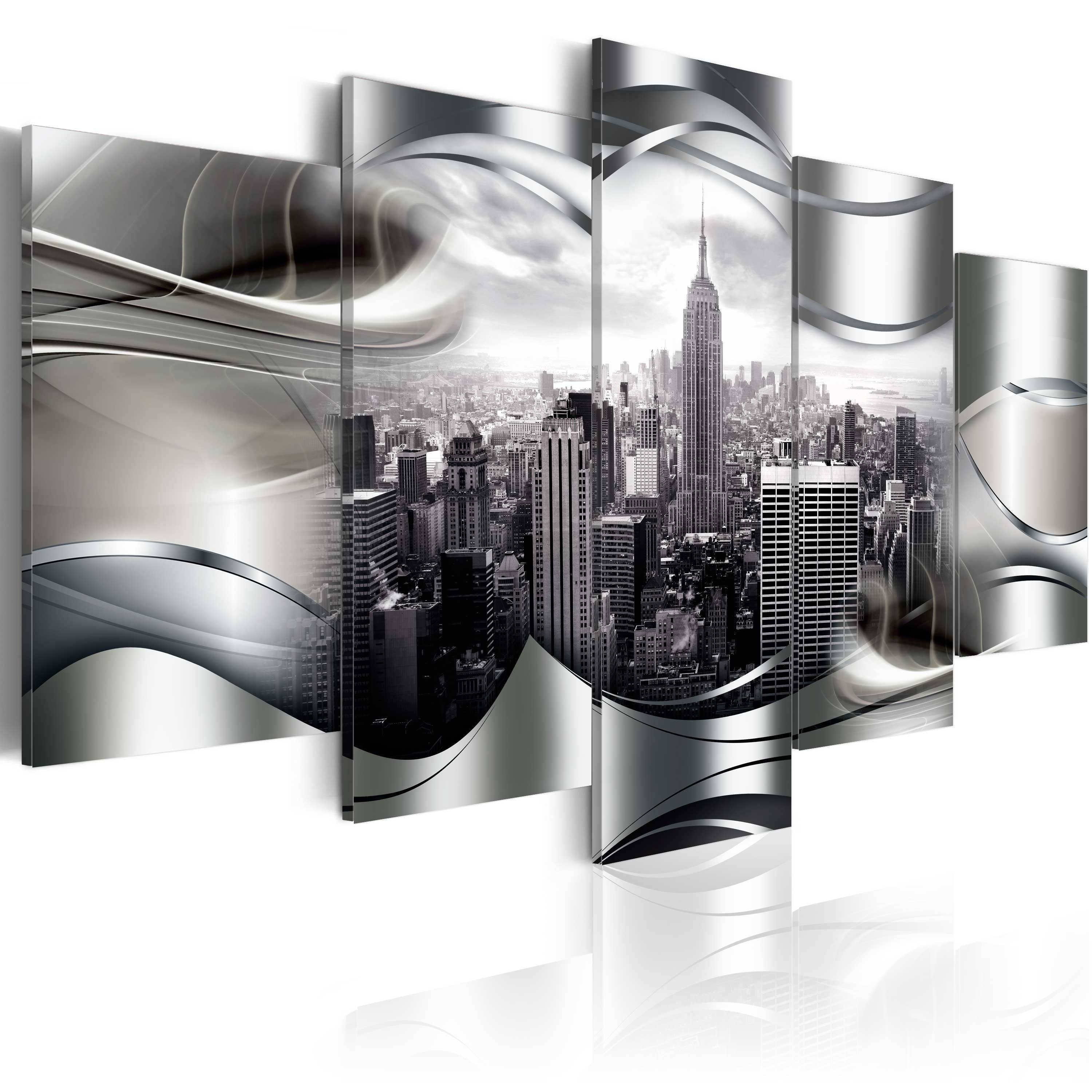 Large Canvas Wall Art Print + Image + Picture + Photo New York D A Regarding Recent Black And White New York Canvas Wall Art (View 7 of 20)