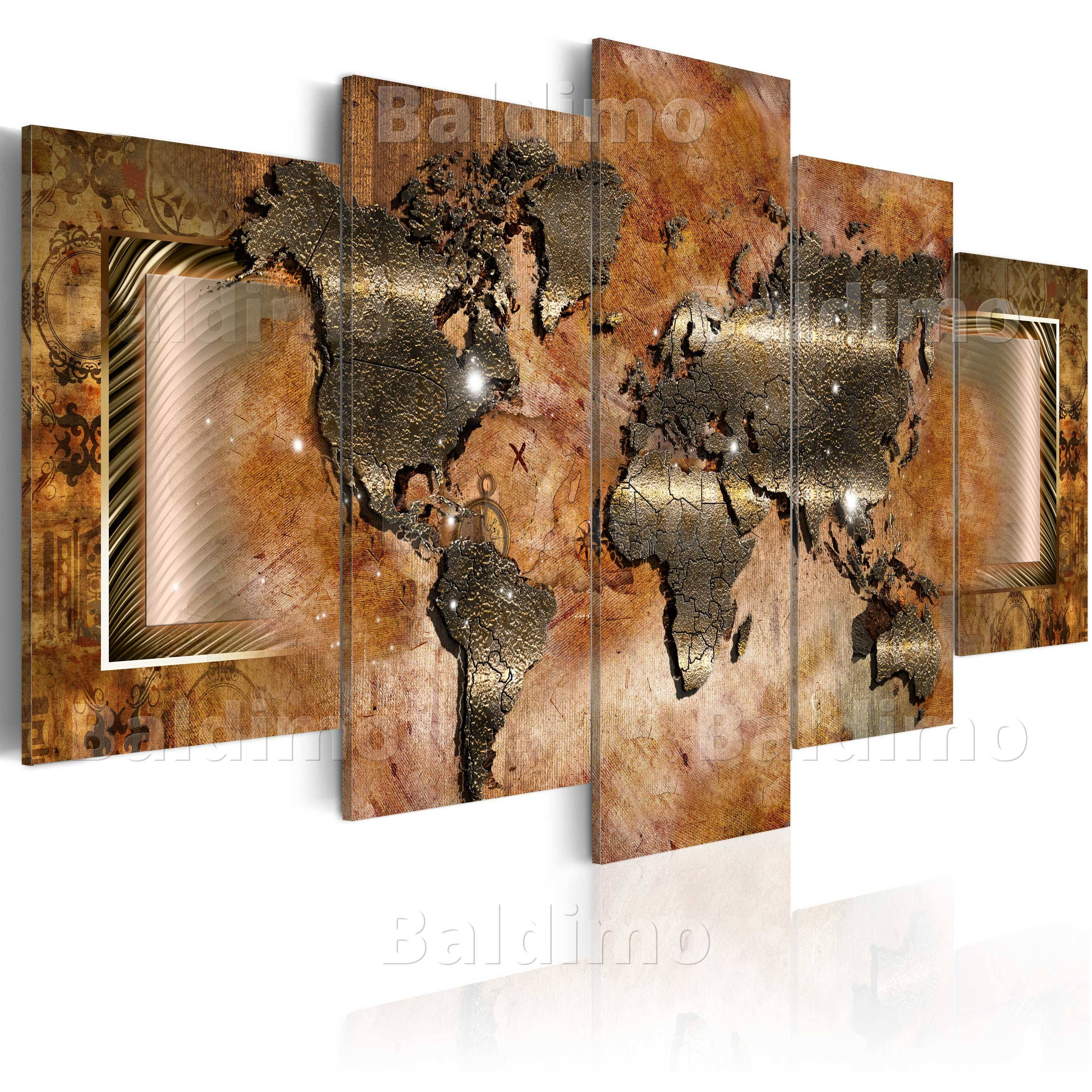 Large Canvas Wall Art Print + Image + Picture + Photo World Map For Most Recently Released Huge Wall Art Canvas (View 7 of 20)