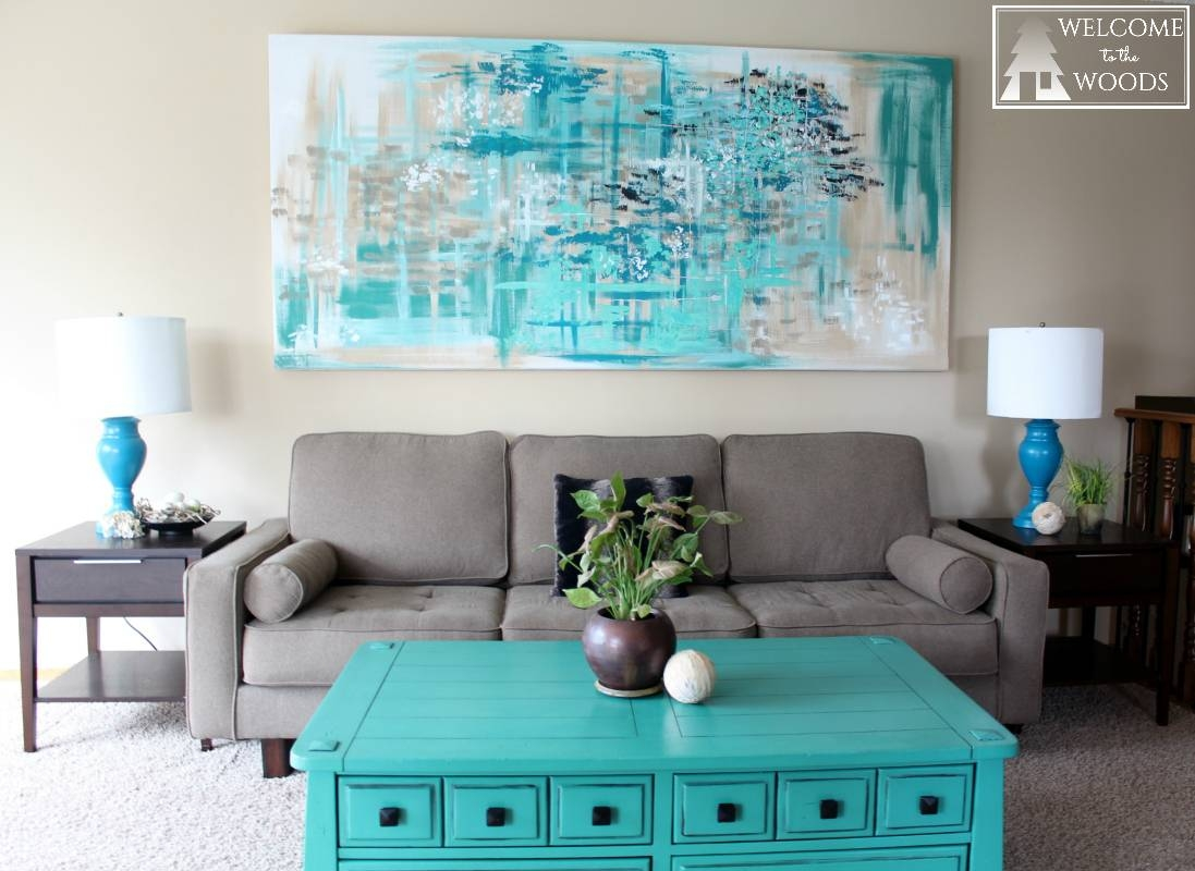 Large Canvas Wall Art – Welcome To The Woods Inside 2017 Large Teal Wall Art (View 19 of 20)
