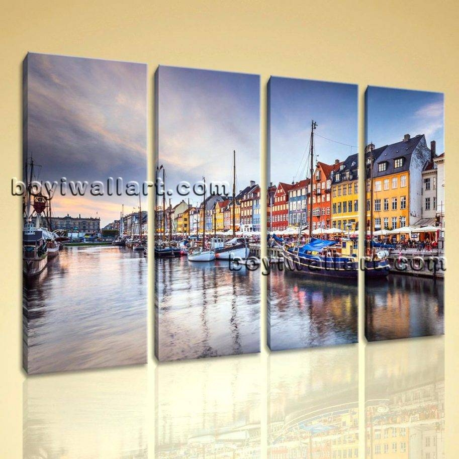 Large Contemporary Canvas Wall Art Print Painting City Picture Ash Pertaining To Best And Newest Ash Carl Metal Wall Art (View 15 of 30)