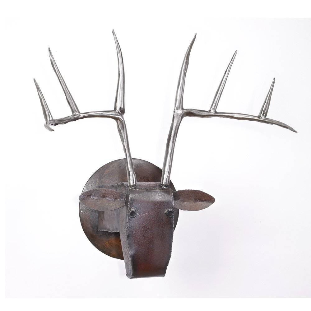 Large Deer Headben Gatski And Kate Gatski (Metal Wall Inside Current Kohl's Metal Wall Art (View 14 of 30)