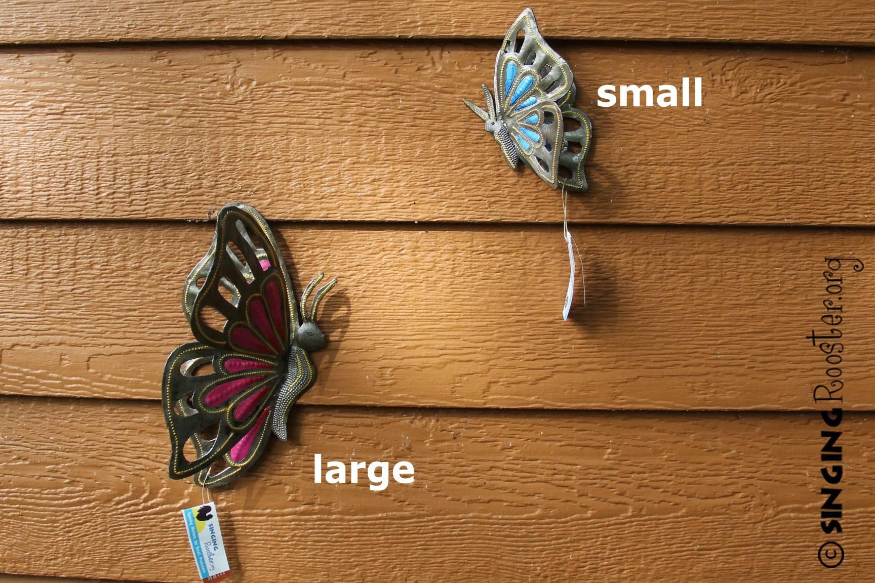 Large Metal Butterfly Garden Art, Fair Trade, Haiti Pertaining To 2018 Large Metal Butterfly Wall Art (View 12 of 25)