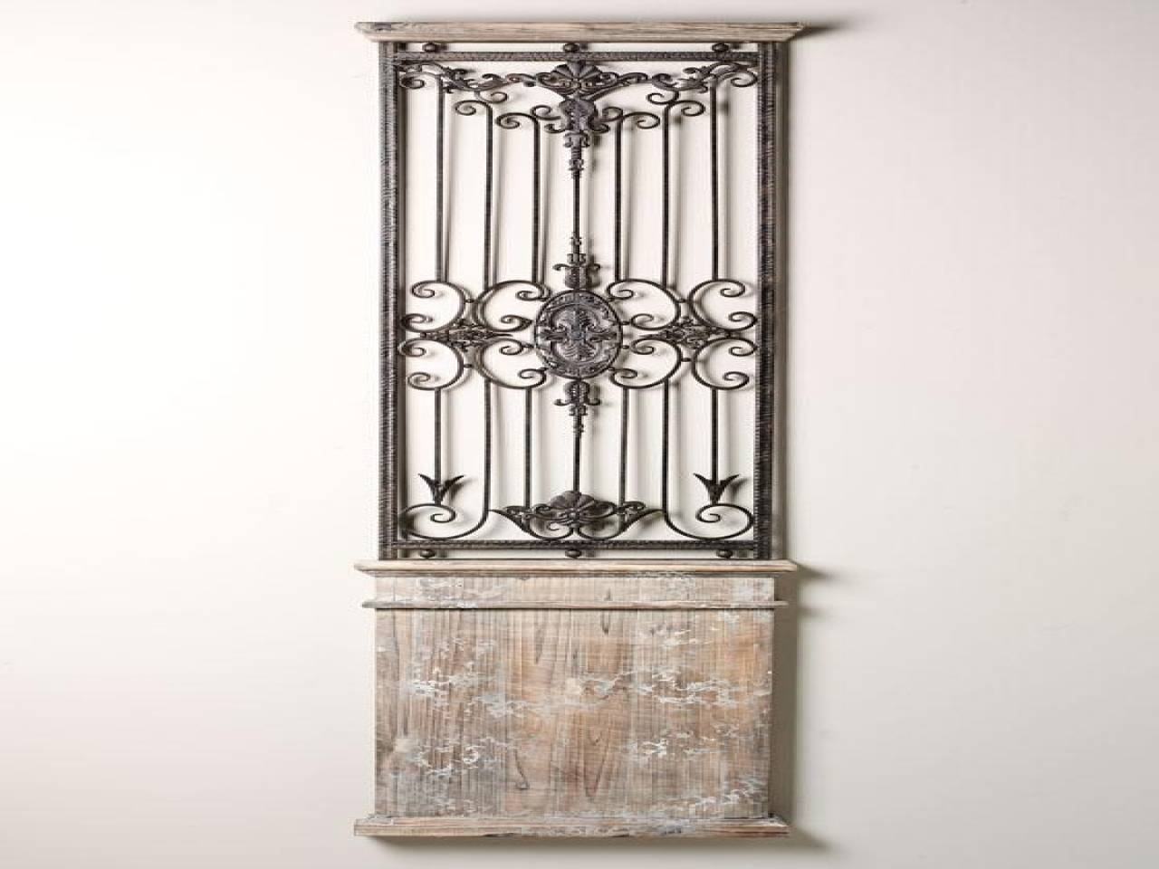 Large Mirrors For Wall, Decorative Metal Gates Decorative Iron In Most Current Metal Gate Wall Art (View 8 of 32)