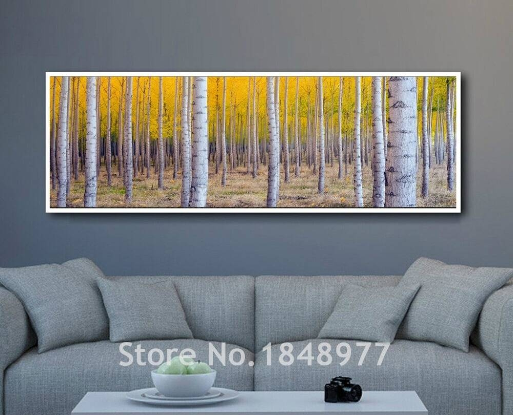 Large Modern Wall Art Birch Tree Home Decoration Printed Art Work Intended For Current Large Modern Wall Art (View 13 of 20)