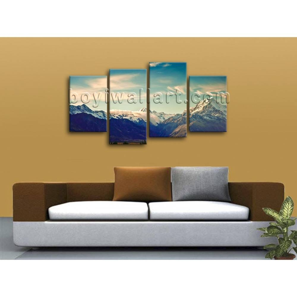 Large Multiple Pieces Contemporary Home Decor Landscape Wall Art With Regard To Most Up To Date Wall Art Multiple Pieces (View 6 of 20)