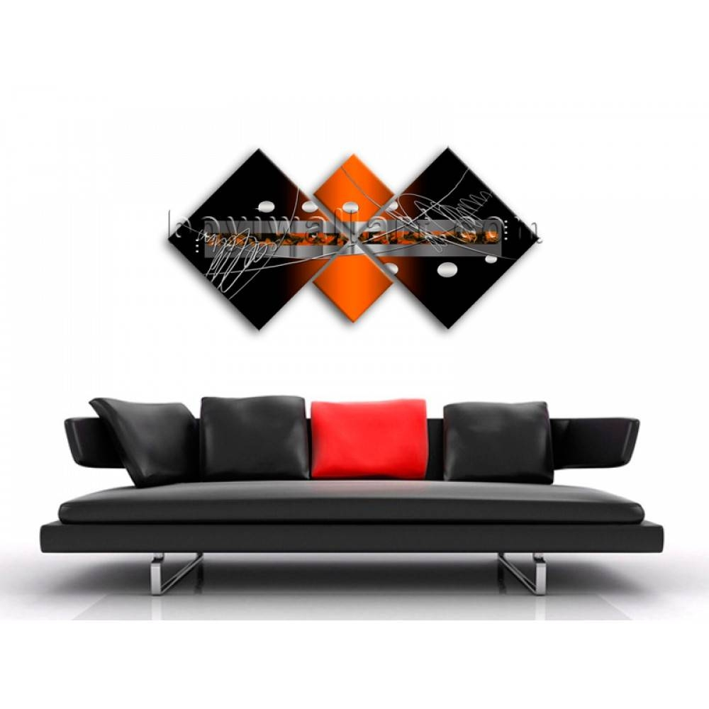 Large Multiple Pieces Modern Abstract Painting Wall Art Print With Regard To Most Popular Wall Art Multiple Pieces (View 17 of 20)