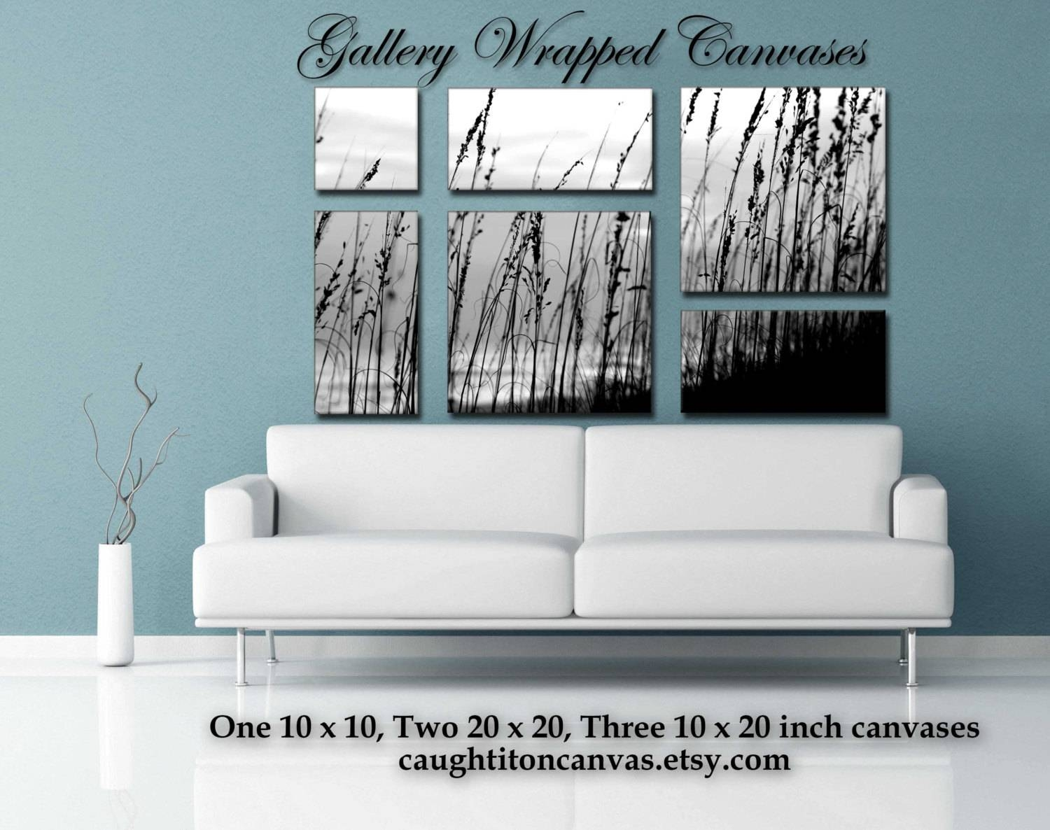 Large Mural Multipanel Multiple Pieces Wall Art Sea Oats Black For Recent Wall Art Multiple Pieces (View 3 of 20)