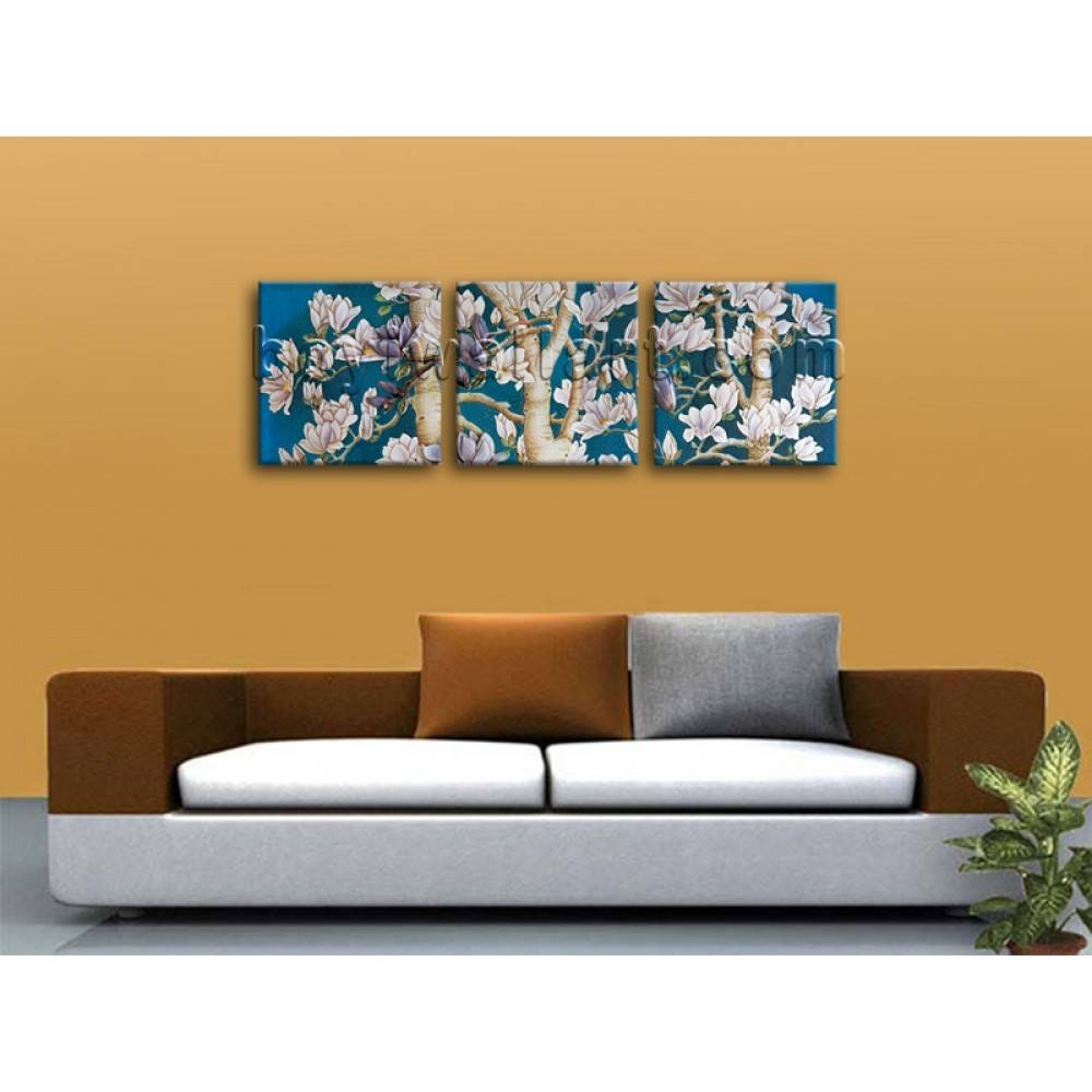 Large Painting Hd Print 3 Pieces Canvas Wall Art Hd Abstract Pertaining To Latest 3 Piece Floral Canvas Wall Art (View 13 of 20)