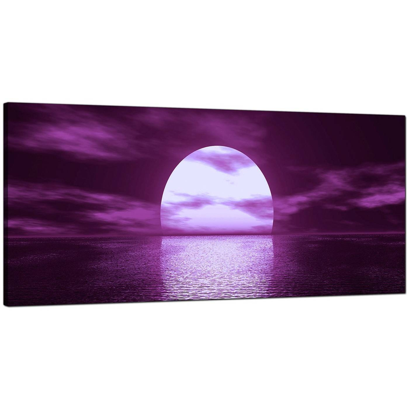 Large Purple Canvas Art Of A Sea Sunset Within Most Popular Purple Canvas Wall Art (View 14 of 20)