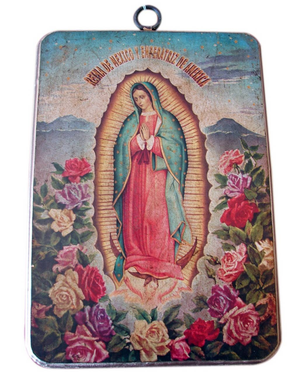 Large Religious Plaques – Set Of Two Mexican Metal Wall Art With Regard To Best And Newest Mexican Metal Art (View 25 of 30)