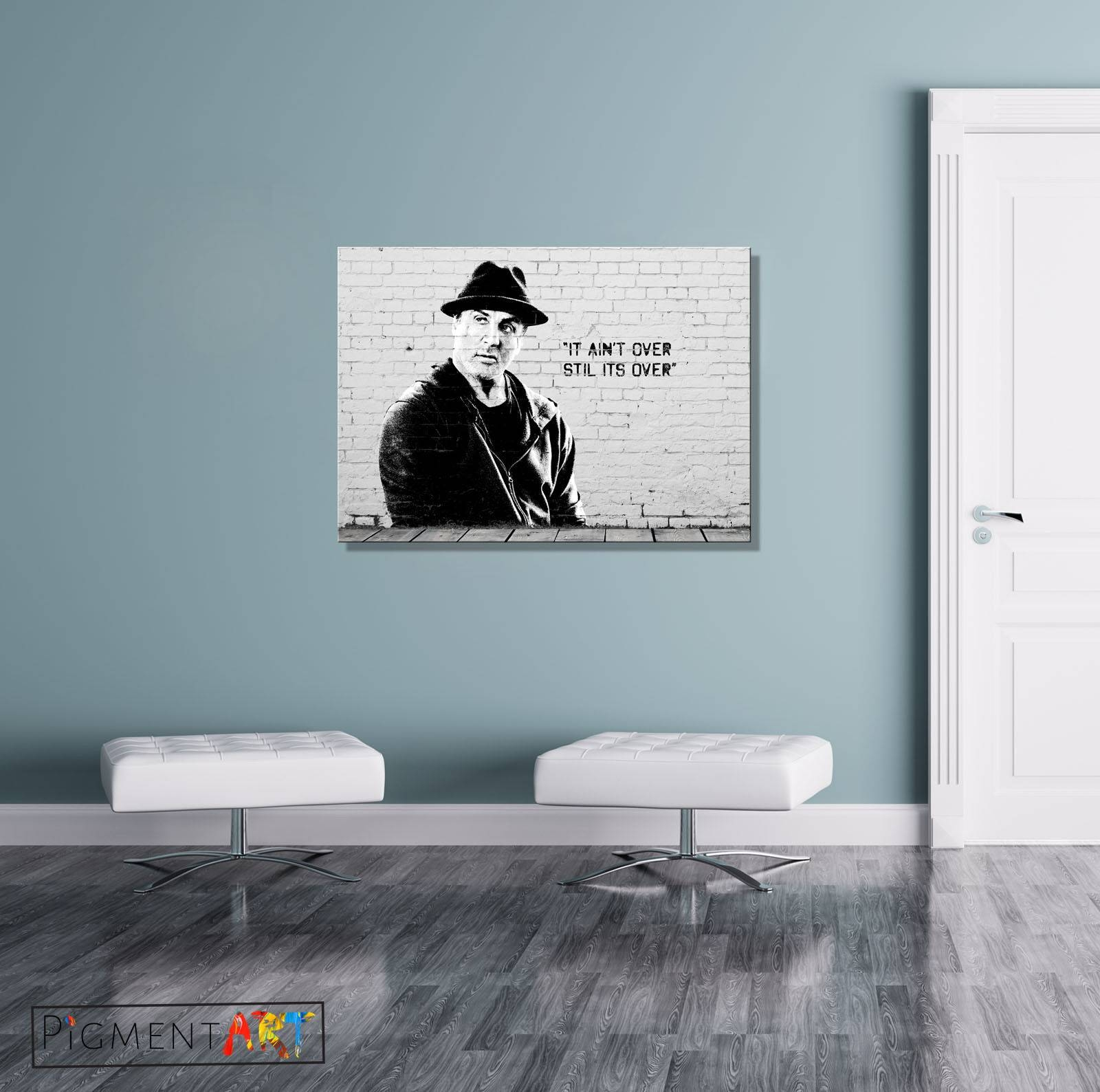 Large Rocky Balboa Quote Graffiti Street Art Canvas Wall Art Within Most Recent Rocky Balboa Wall Art (View 5 of 20)