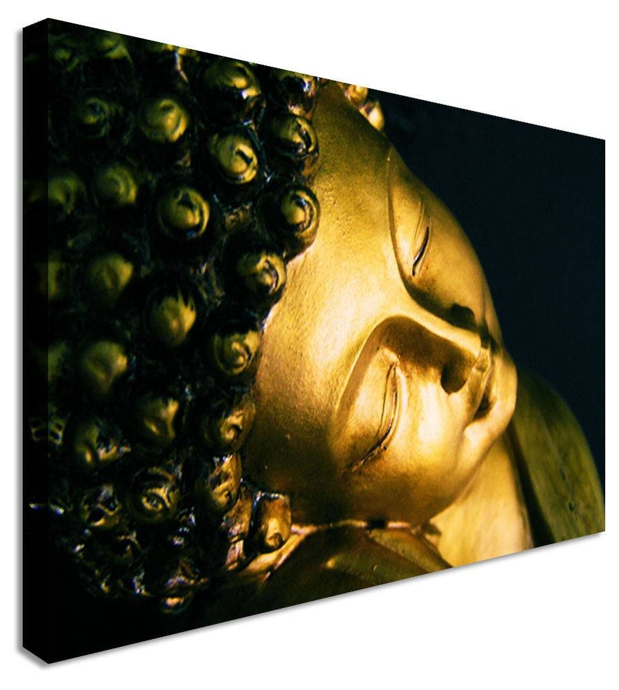 Large Smiling Buddha Indian Canvas Wall Art Print | Ebay Inside Most Up To Date Large Buddha Wall Art (View 15 of 15)